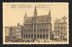 Market Place King's House Brussells Belgium unused c1920's