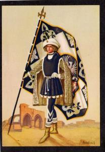 Paggi delle contrade storiche di Siena Lupa Squire Knight Artist Signed Postcard