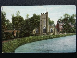 Staffordshire LICHFIELD St. Chad's Church c1906 Postcard by Wrench Series 11963
