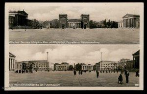 3rd Reich Germany RPPC USED Putsch Munich Memorial Koenigsplatz Propaganda 93663