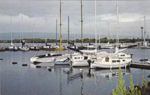 Boats at Collingwood Harbour, Blue Mountain, Georgian Bay, Collingwood, Ontar...