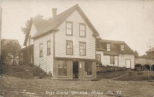 Smyrna Mills ME Dirt Street View Post Office RPPC Postcard