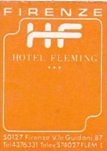 ITALY FIRENZE HOTEL FLEMING VINTAGE LUGGAGE LABEL