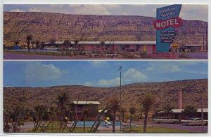 Western Hills Motel US 90 East Sanderson Texas 1960s postcard