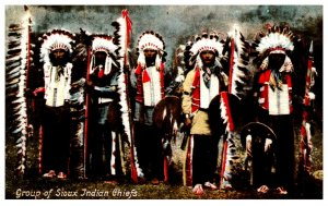 American Indian Group of Sioux Indian Chiefs ,  Reproduction