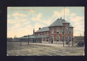 SEDALIA MISSOURI MK&T KATY RAILROAD DEPOT TRAIN STATION VINTAGE POSTCARD MO.