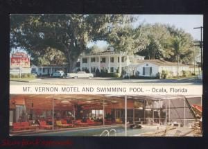 OCALA FLORIDA MT. VERNON MOTEL SWIMMING POOL VINTAGE