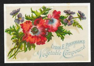VICTORIAN TRADE CARD Lydia Pinkhams Vegetable Compound
