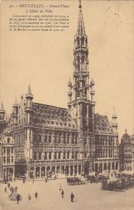 Belgium Brussells Grand' Place L'Hotel de Ville 1924