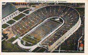 Memorial Stadium, University of Minnesota, Early Postcard, Used in 1933