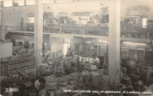 F55/ N. Laredo Tamps. Mexico Foreign RPPC Postcard c1940s Interior Store
