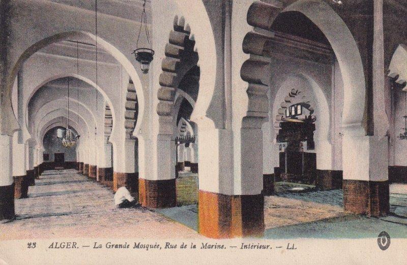 ALGERIA, Africa, 1900-1910's; La Grande Mosquee, Rue De La Marine, Interieur
