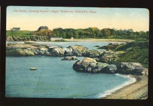 Nahant, Massachusetts/MA/Mass Postcard, The Rocks, Senator Lodges' Residence