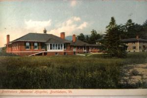 pre-1915 Unused MEMORIAL HOSPITAL in Brattleboro Vermont VT postcard v0729