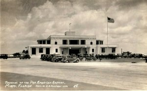 c1940's Terminal Pan American Airport Miami Florida RPPC Photo Postcard