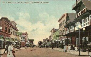 Ocean Park CA Pier Ave Looking West c1910 Postcard