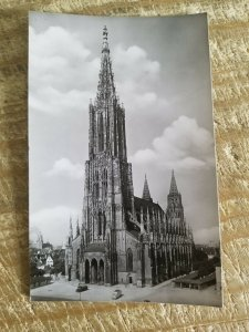 VTG UNUSED REAL PHOTO POSTCARD.TALLEST CHURCH TOWER IN WORLD-ULM MUNSTER*P3