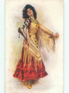 Divided-Back PRETTY WOMAN Risque Interest Postcard AA8300