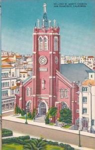 California San Francisco Old St Marys Church