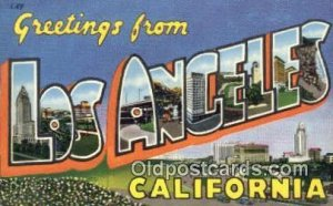 Los Angeles, CA, USA Large Letter Town writing on back