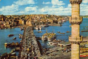Turkey Galata Koprusu The Galata Bridge Istanbul Postcard