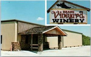 Chestnut Ridge, Missouri Postcard OZARK VINEYARD WINERY Branson c1960s Unused