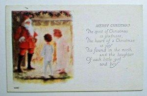 Vintage Merry Christmas Postcard Santa Claus Fillmore New York 1924 Series 410 C