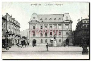 Old Postcard Bank Caisse d & # 39Epargne Bordeaux Tramway