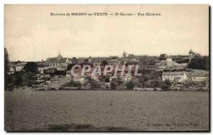 Old Postcard Magny in Vexin St Gervais Vue Generale