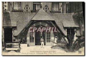 Old Postcard Deauville La Plage Fleurie Normandy Hotel Porch of entry
