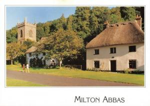 New Postcard, Milton Abbas, Dorset, The Church and Part of the Village, Thatched