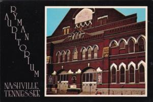 Tennessee Nashville The Ryman Auditorium
