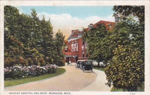 Michigan Muskegon Hackley Hospital and Drive 1927 Curteich