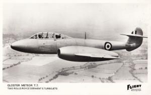 Gloster Meteor T7 Rolls Royce Derwent Turbojet Military WW2 Plane Postcard