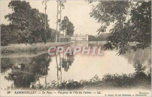 Old Postcard Rambouillet Park View from the Isle of Treats