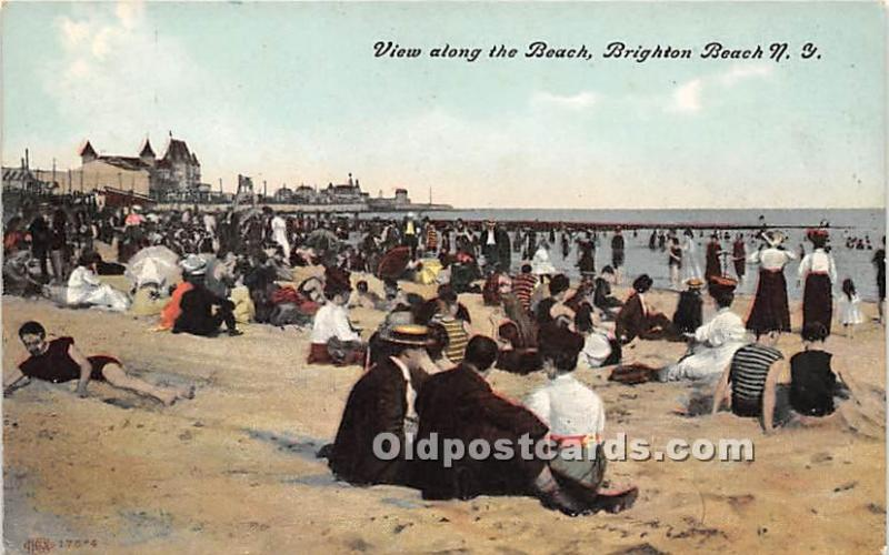 Amusement Park Postcard Post Card Brighton Beach, New York, NY, USA Amusement...