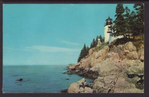 Bass Harbor Head Light,Mt Desert Island,Maine Postcard BIN