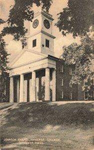 Postcard Johnson Chapel Amherst College Amherst Massachusetts Posted 1948