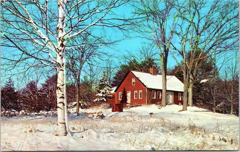 Old French Homestead in Parsonfield, Maine Postcard