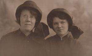 Ladies Salvation Army Uniform 1930s Antique Real Photo Postcard