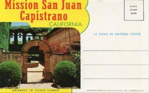 Folder - Mission San Juan Capistrano,  CA