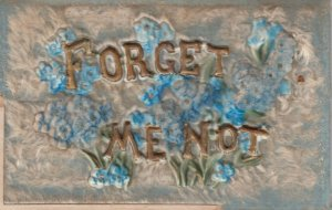 Forget-Me-Not Flowers , embossed , 00-10s