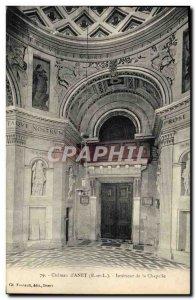 Old Postcard Dreux Anet The Interior Castle chapel