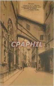 Postcard Old Chiesa di Firenze Gold S Michele Part dal lato inferiore Avest (...
