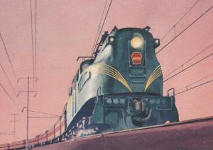Congressional Electric Train - Postal Card - pm 1999