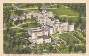 Aerial View, Greenbrier Hotel, White Sulphur Springs, West Virginia 1930-40s