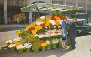 California San Francisco City Street Corner Flower Stand
