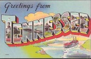 TN Greetings From Large Letter Linen