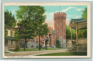 Gloversville New York~From Someone's Front Porch: National Guard Armory~1920s