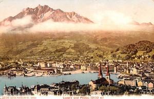 Switzerland Postcard Luzern und Pilatus